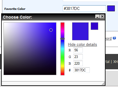 Color Picker Screen shot