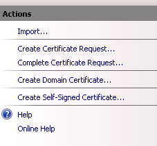 create csr link screen shot