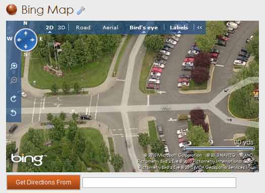 Bing Map Screen shot