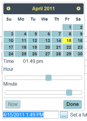 date time picker screen shot