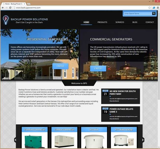Backup Power Solutions - Website Designed by i7MEDIA