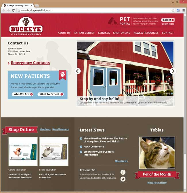 Buckeye Veterinary Clinic website