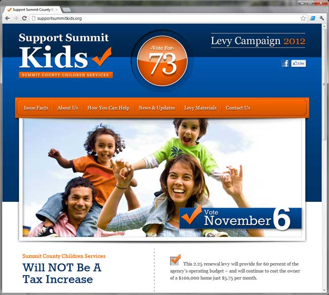 Summit County Children's Services site