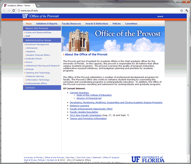 UF Office of the Provost