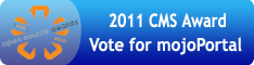 Vote for mojoPortal in the 2011 CMS Awards!
