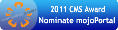Nominate mojoPortal for the 2001 CMS Awards